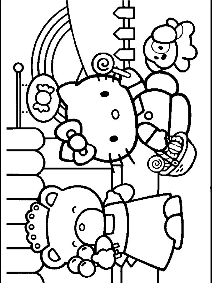 44 best Hello Kitty images on Pinterest Coloring pages, Hello - fresh hello kitty christmas coloring pages to print