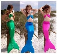 Wish | 4 Colors 2016 New Hot Sale Fashion Cute Kids Girls Gilding Mermaid Tail Costume Swimwear Bikini Swimsuit Outfit High Quality