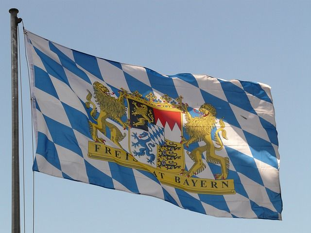 Bavarian Flag, Flagge, Bavaria, Germany, Regions, Flag