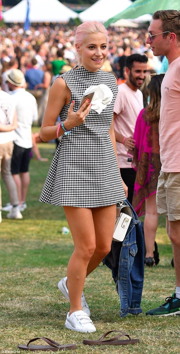 Checkmate! Pixie Lott looked in her element as she attended the House Festival in London o...