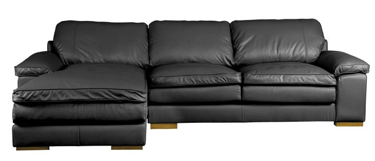 Lazy Loafer chaise in black
