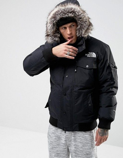 9d9333642 The North Face Gotham Bomber Jacket with Detachable Faux Fur Hood in ...