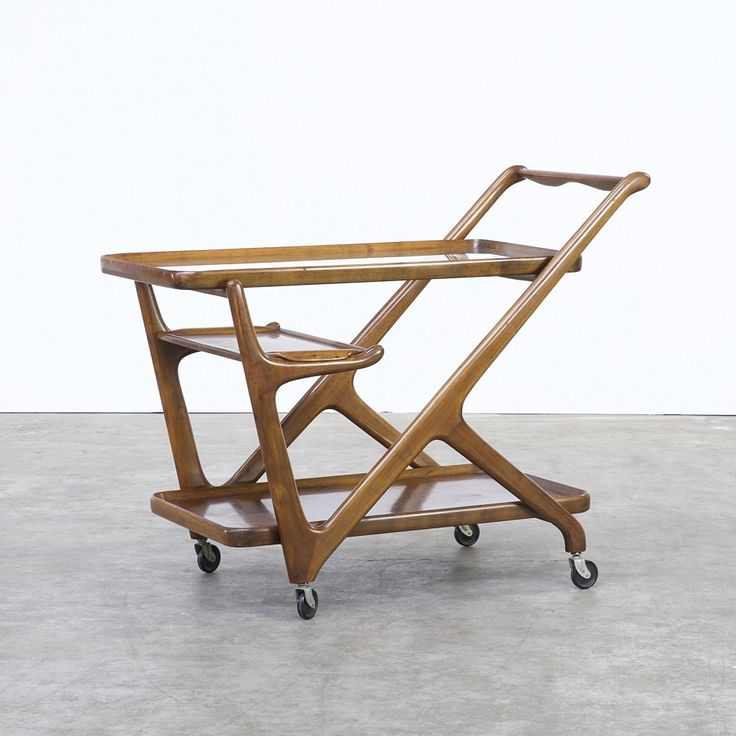Serving trolley from the fifties by Cesare Lacca for Cassina