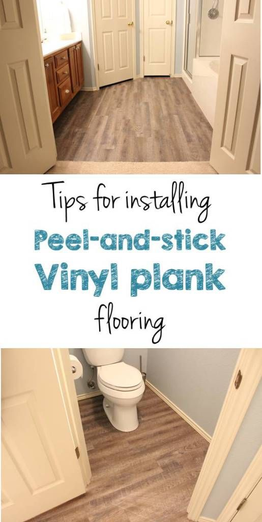 DIY peel and stick vinyl plank flooring - how to guide