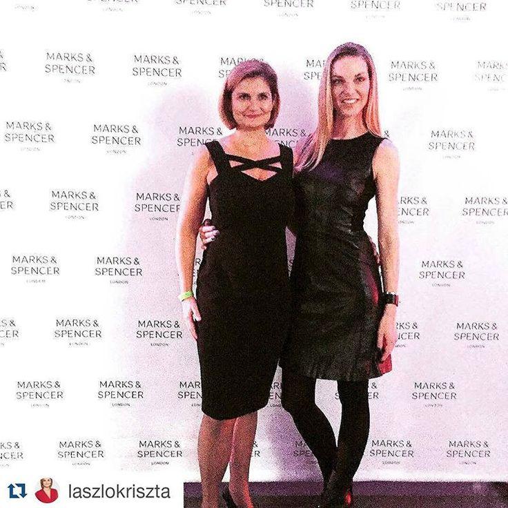 """#Repost @laszlokriszta with @repostapp ・・・ With topmodel Pavlina Nemcova in Prag #marksandspencer #pavlinanemcova #fashionshow"""