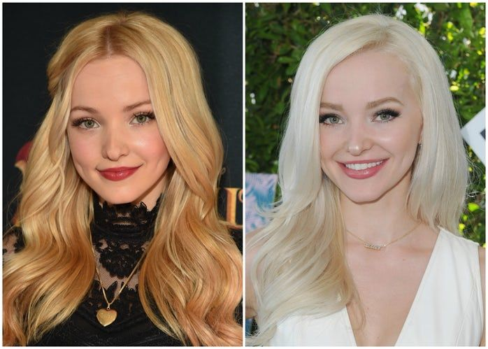 See Photos Of Stars Before After Their Platinum Blonde Hair