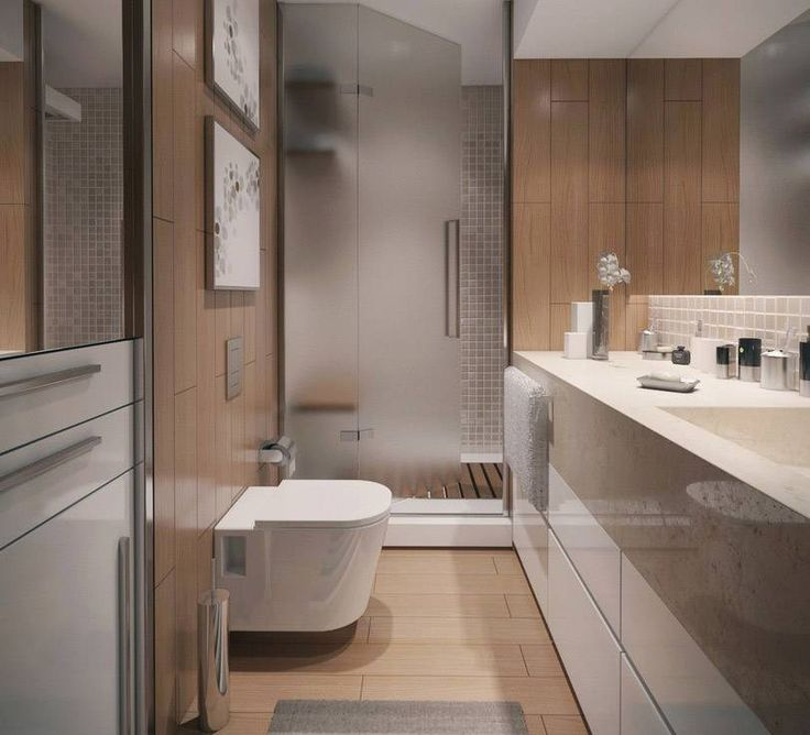 bathroom modern small bathroom design ideas modern small bathroom design with ceramic floor tile and wall mounted toilet and walk in shower with wooden - Bathroom Ideas Modern Small