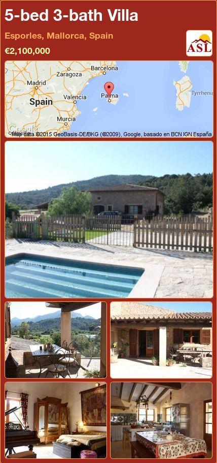 5-bed 3-bath Villa in Esporles, Mallorca, Spain ►€2,100,000 #PropertyForSaleInSpain