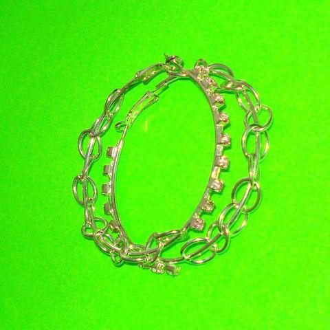 Chain Hoop Earrings - Mookie Designs Vintage