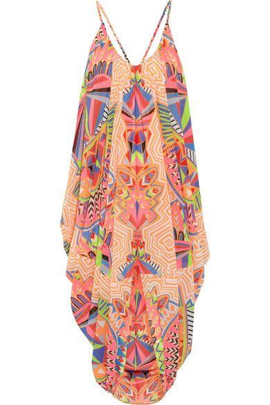 MARA HOFFMAN Printed chiffon beach dress