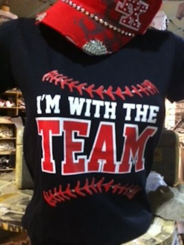 I'm With the Team Tee... Need one with basketball channels/ lines!!