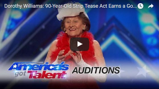 Watch: Dorothy Williams - 90-Year-Old Strip Tease Act Earns a Golden Buzzer in AGT 2016 ~ ZK Buzy Buzz