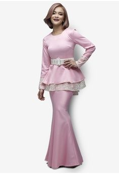 Royal Star Modern Peplum Kurung from Emel by Melinda Looi in pink_1
