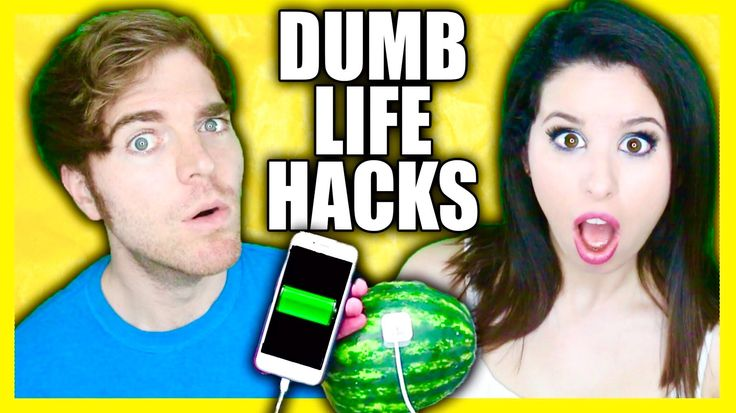 TRYING DUMB LIFE HACKS with GLITTERFOREVER17!