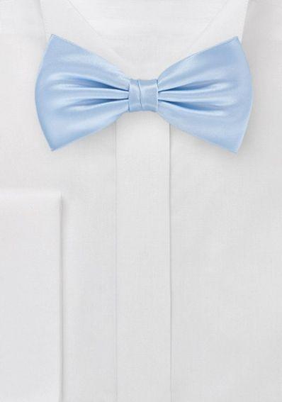 Herrenschleife monochrom taubenblau italienische Seide