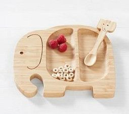 Elephant Bamboo Feeding Set