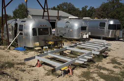 Airstream Trailer Frame Rebuilding At A Amp P Vintage Trailer