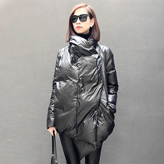 [Xitao] 2016 Winter Original Design Индивидуальность нерегулярной формы Простые Прохладный Чистая Теплый Полное рукава Толстая женщина вниз DFA-005