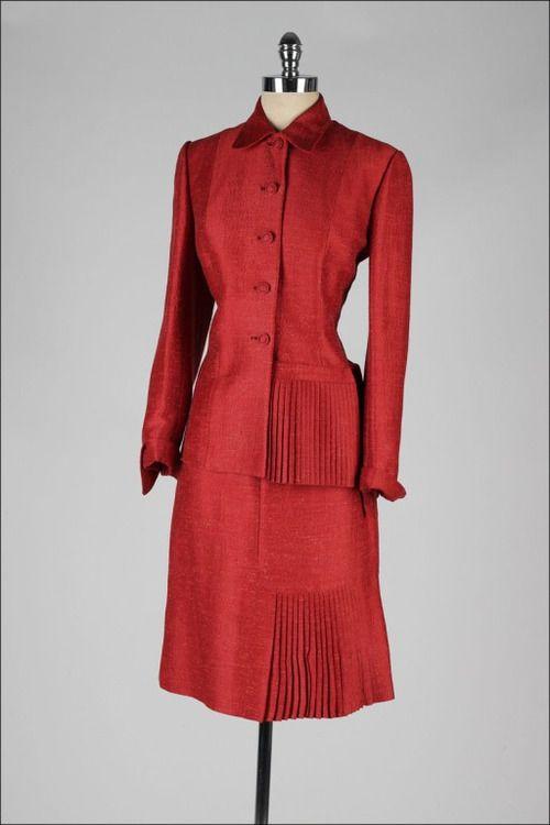 Suit Lilli Ann, 1950s 1stdibs.com
