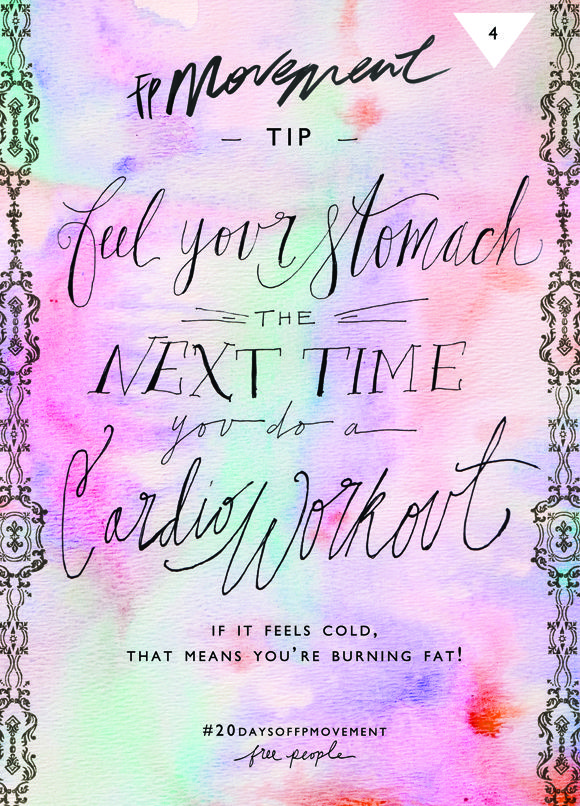 20 Days Of Movement, Day 4: Feel Your Stomach | Free People Blog #freepeople