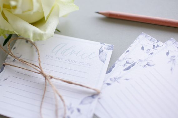 advice for the bride to be   free bridal advice card templates