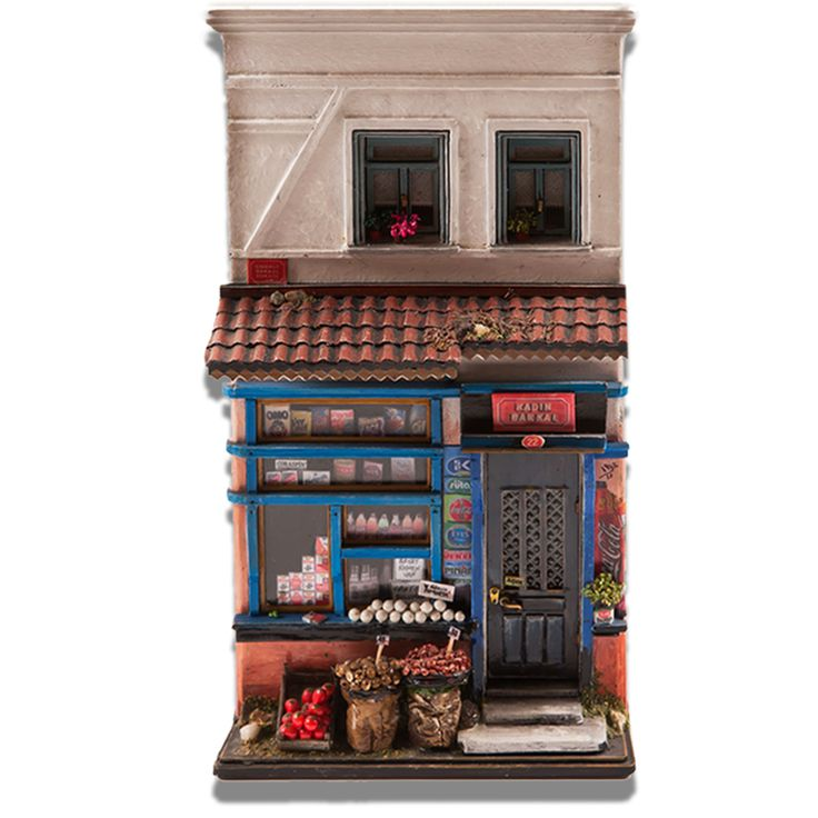 #ottoman grocery #miniature house #handmade with natural materials #crafts  www.arkofcrafts.com/artist/view/detail/name/huseyin-elik/