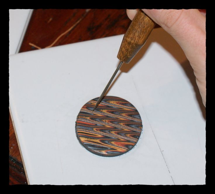 Polymer Clay Day 55 Mokume Gane And Simple Pendant