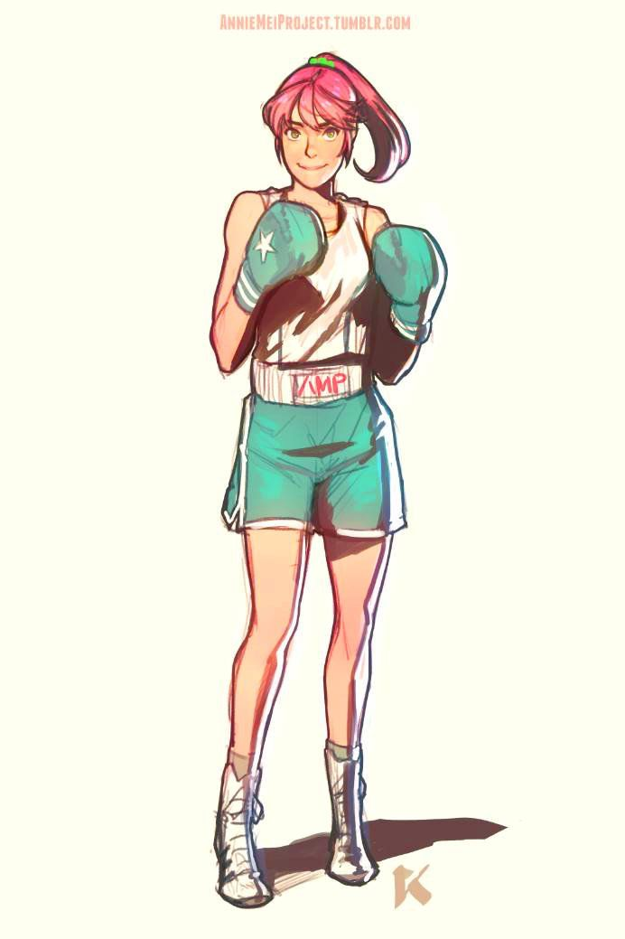 anniemeiproject:  Something for fun before bed.  I've actually imagined Annie taking boxing lessons from Hudson or something.  I'll have to draw that out to see what it looks like!