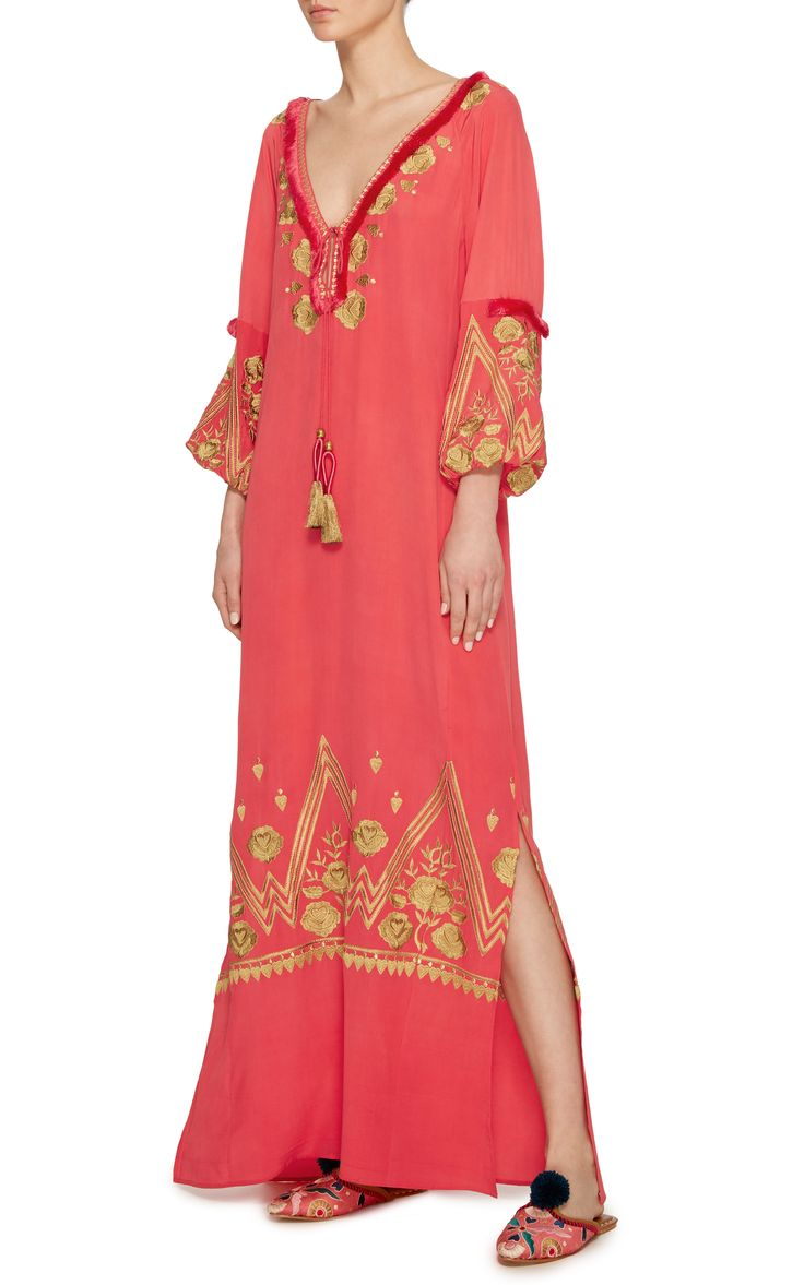 Lola Embroidered Ibiza Maxi Dress by FIGUE Now Available on Moda Operandi