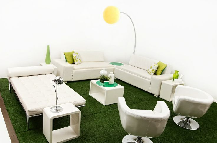 Green and White Lounge Pod