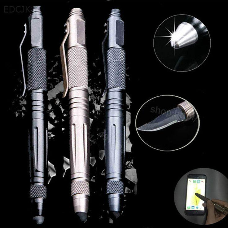 Luar Taktis Pertahanan Pen multi-fungsi Alat Dengan Pisau Baja Tungsten Kaca Breaker pertahanan Diri Senjata EDC Kelangsungan Hidup Alat