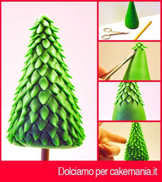 Tutorial di cake design: come creare un albero di Natale tridimensionale