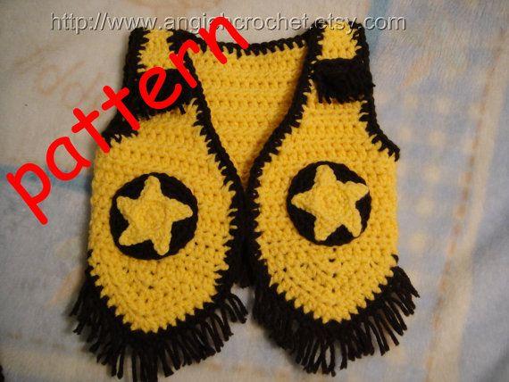 Crochet Cowboy Vest PDF Pattern