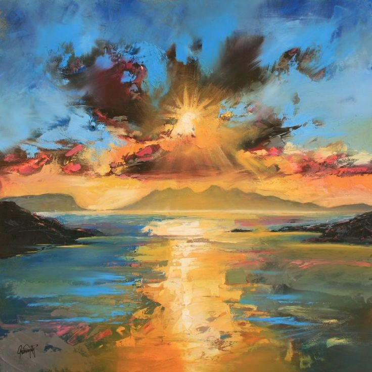 "astonishing colours and the sea, Scott Naismith ""Morar Sunset"""