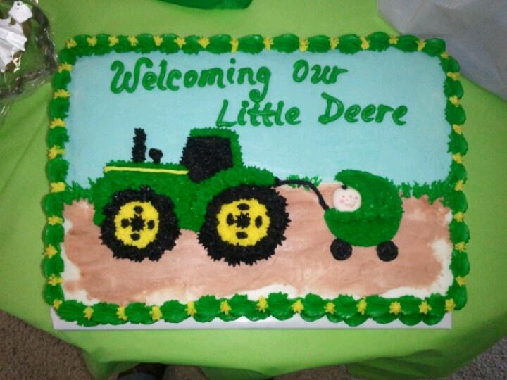 Baby shower cake, John Deere