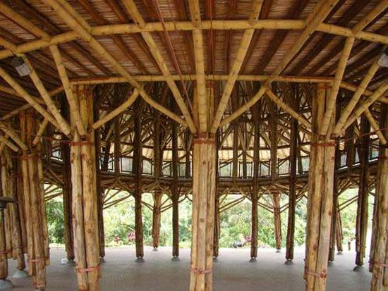 colombian architect simón vélez is known for his aesthetic and technical innovations in bamboo which  have enhanced the material construction potential and challenged mainstream architectural trends.