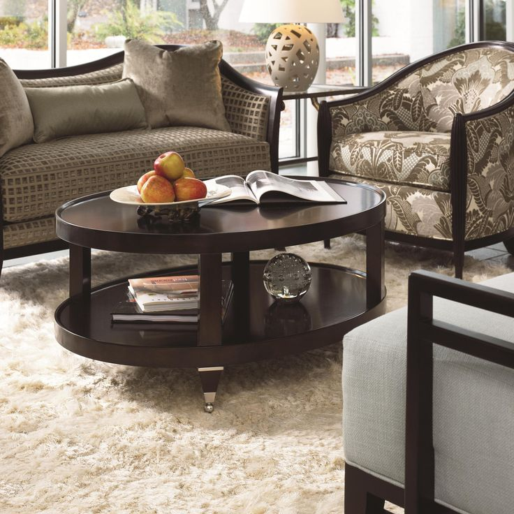 Spellbound oval cocktail table by thomasville
