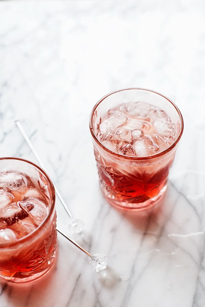 St. Germain and Cassis Gin and Soda | Hungry Girl Por Vida, December 2015