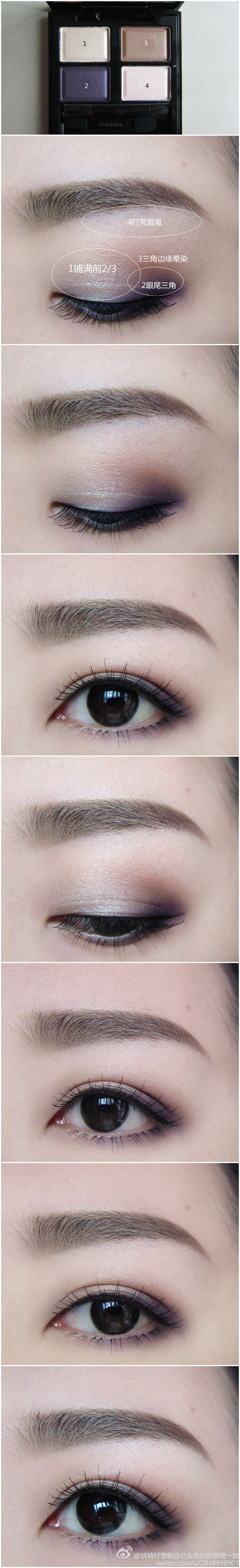 Show you how to apply beautiful purple smokey eye makeup                                                                                                                                                                                 More