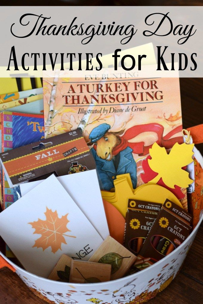 Thanksgiving Day Activities for Kids - Basket of Books, Craft, and Activities by This Little Home of Mine