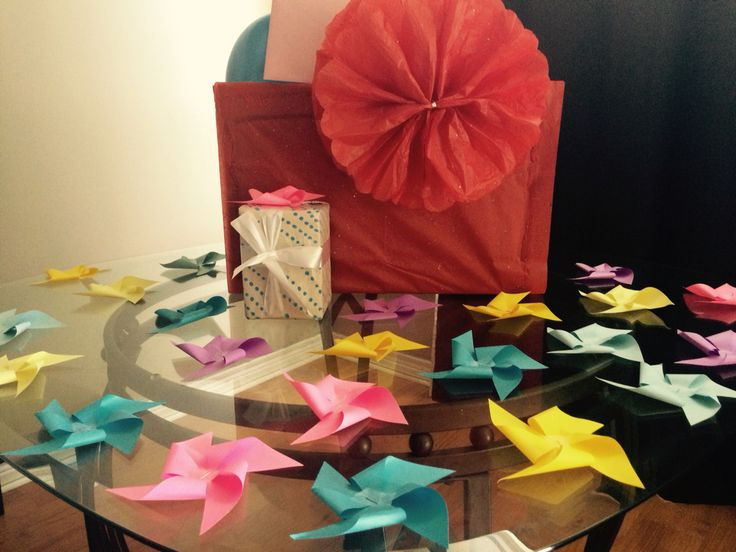Larger than life tissue paper flower as an oversized decorative touch.
