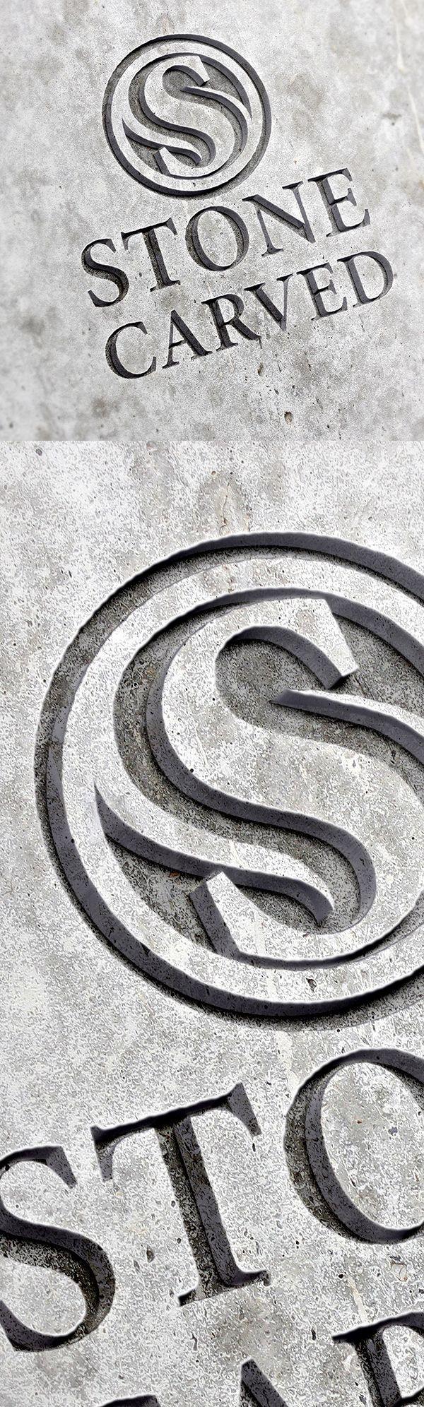 Free Carved Stone Logo Mockup PSD #freepsdfiles #freebies #freepsdmockup #psdmockup #mockuptemplate #freedownload