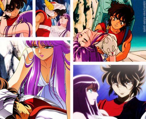 Saori e Seiya