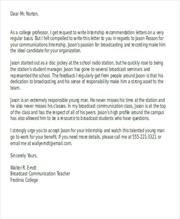 Letter Of Recommendation For Student Intern from i.pinimg.com