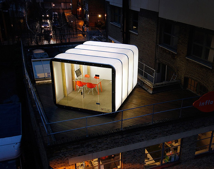 If It's Hip, It's Here: Inflatable Pods Pop Up For Commercial and Residential Use: AirClad Isn't it romantic?