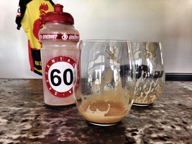 #coffibreak #summertime #cycling  Affrontiamo il caldo con le giuste idee...Borraccia 60 ottima per il caffè freddo!