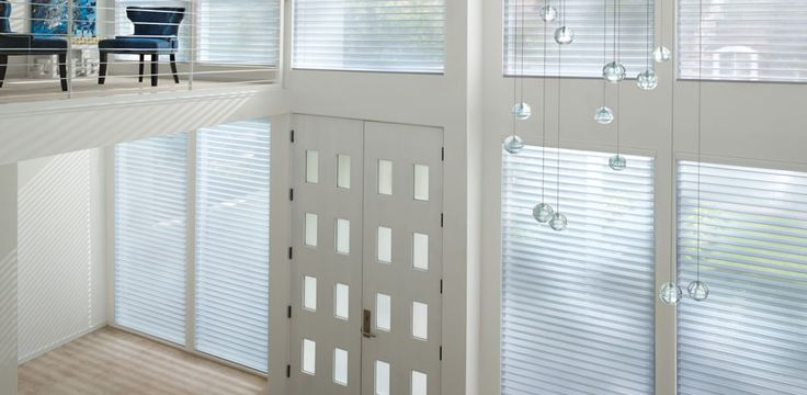 Las persianas Shangri-la combinan la versatilidad de una persiana con la elegancia de una cortina. Se considera un producto muy innovador.