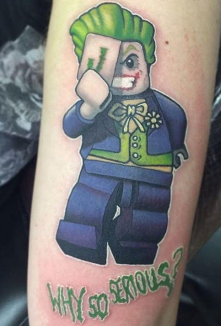 Flaming art tattoo for geek tattoo lovers this kind of batman - Joker Lego Tattoo