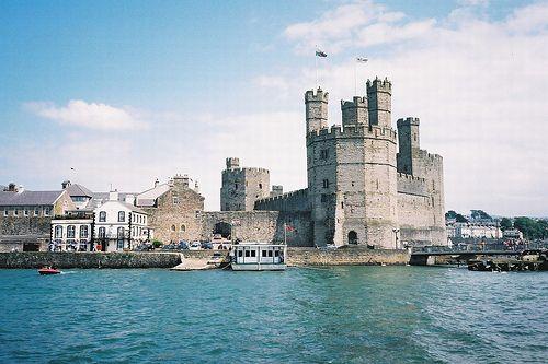 caernarfon castle wales uk