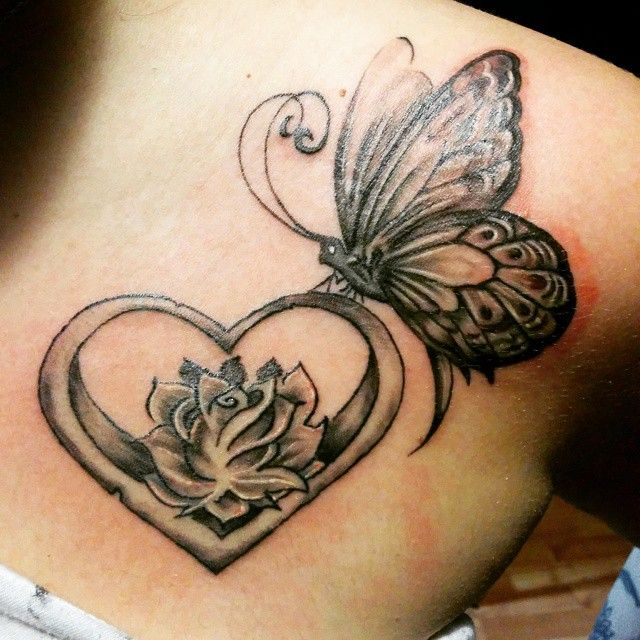Butterfly tattoos on collar bone